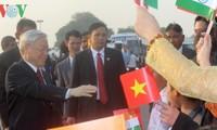 欢迎阮富仲总书记访印的正式仪式在印度总统府隆重举行