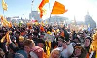 乌克兰再次发生大规模示威游行