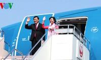 张晋创主席开始对日本进行国事访问