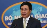 越南政府副总理兼外交部长范平明与中国国务委员杨洁篪通电话