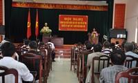 越南党和国家领导人与选民接触