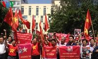 越南多个团体组织反对中国侵犯越南主权的行为