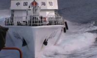 要求中国遵守国际法立即从越南海域撤走钻井平台和护卫舰船