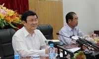 张晋创主席慰问海上警察和渔业检查力量