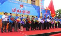 2014年青年志愿者活动出征仪式在海防市举行