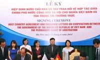 越南与海牙常设仲裁法院(PCA)签署东道国协定