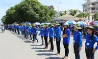 坚江省、龙安省举行2014夏季青年志愿者行动出征仪式