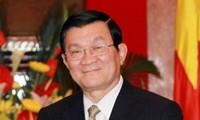 越南国家主席张晋创会见前来辞行拜会的美国驻越大使希尔