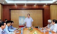 越南祖国阵线中央委员会主席阮善仁视察广宁省