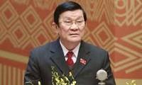 越南国家主席张晋创对国有企业的贡献给予肯定