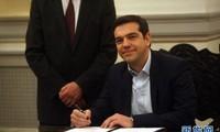 希腊新总理宣誓就职