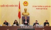 越南国会常委会第36次会议闭幕前讨论今明两年立法计划