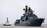 中俄在地中海举行联合军演