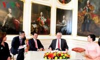 越南国家主席张晋创同捷克总统米洛什•泽曼举行会谈