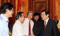 越南国家主席张晋创:媒体真正是人民可以信赖的论坛