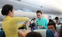 越南航空公司空中客车A350-900首趟航班起飞