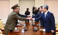 韩朝继续进行高层会谈弥合分歧