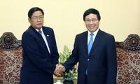 越南政府副总理兼外长范平明会见缅甸反腐行动委员会主席吴妙温