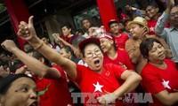 缅甸公布选举第一天计票结果产生的106名议员名单