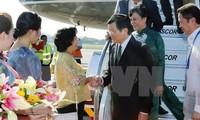 张晋创抵达马尼拉出席APEC峰会
