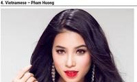 2015年越南环球小姐范香入选全球30位最美女性排行榜
