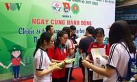 胡志明市团市委举行绿色行军夏季青年志愿者活动出征仪式