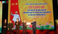 越南北部宁平省三迭市完成新农村建设