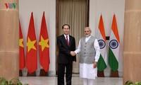 越南国家主席陈大光结束对印度的国事访问