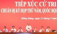 阮春福与海防市选民接触