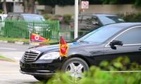 朝鲜领导人金正恩抵达新加坡