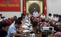 越共中央组织部部长范明正视察清化省