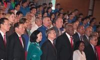古巴领袖菲德尔·卡斯特罗对越南南方解放区进行访问45周年纪念仪式举行