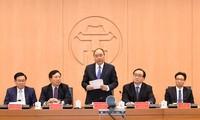 阮春福主持河内城市政府模式管理试点提案会议
