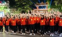 """""""团结之歌""""-践行胡志明主席遗嘱50周年电视连线直播节目举行"""