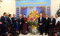 阮氏金银向越南天主教团结委员会致以圣诞祝福