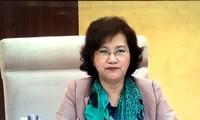 越南国会主席阮氏金银呼吁全民团结 相亲相爱 积极防控新冠肺炎疫情