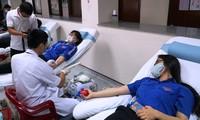 疫情中各地青年积极参加无偿献血活动