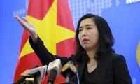 越南反对中国在黄沙群岛海域举行非法军演