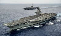 美国派遣两艘航空母舰参加在东海的军演
