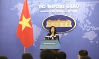 越南对各国对东海问题持有符合国际法的立场表示欢迎