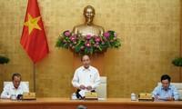 越南政府总理阮春福在政府常委会防疫会议上作出结论