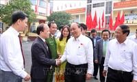 政府总理阮春福与海防市选民接触