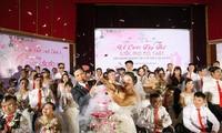 """第三次""""梦想成真""""集体婚礼在河内举行"""