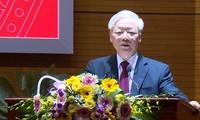 越共中央总书记、国家主席阮富仲说:反腐败是一项重要、经常性和长期的任务