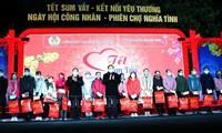 越南各地照顾工人物质和精神生活