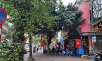 首都河内大街小巷挂满国旗迎接越共十三大