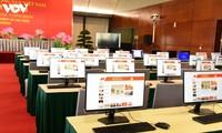 越共十三大新闻中心准备就绪,随时投入运行