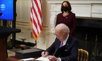 美国总统拜登签署两项经济行政令
