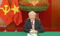 越共中央总书记国家主席阮富仲收到的贺电和贺信