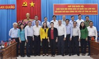 越南国会主席阮氏金银与安江省选举工作指导委员会举行工作会议